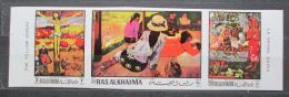 Poštovní známky Rás al-Chajma 1970 Umìní, Gauguin neperf. Mi# 392-94 B Kat 12€