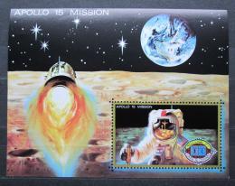 Poštovní známka Umm al-Kuvajn 1972 Let na Mìsíc, Apollo 15 Mi# Block 41