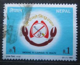 Poštovní známka Nepál 1994 Kampaò proti kouøení Mi# 561