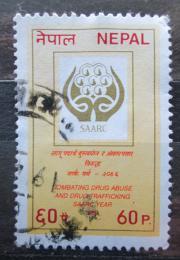 Poštovní známka Nepál 1989 Boj proti drogám Mi# 497