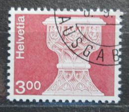 Poštovní známka Švýcarsko 1979 Gotická kamenná køtitelnice Mi# 1160
