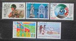 Poštovní známky Švýcarsko 1989 Výroèí Mi# 1385-89