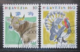 Poštovní známky Švýcarsko 1992 Zvíøata Mi# 1461-62
