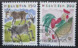 Poštovní známky Švýcarsko 1994 Zvíøata Mi# 1531-32 Kat 3.50€