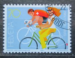 Poštovní známka Švýcarsko 1983 Cyklisti Mi# 1258