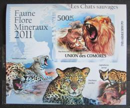 Poštovní známka Komory 2011 Koèkovité šelmy neperf. Mi# 3060 B Block