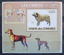 Poštovní známka Komory 2009 Psi Mi# 2135 Block