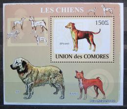Poštovní známka Komory 2009 Psi Mi# 2136 Block