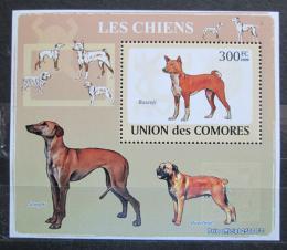 Poštovní známka Komory 2009 Psi Mi# 2138 Block