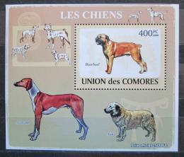 Poštovní známka Komory 2009 Psi Mi# 2139 Block