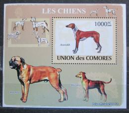 Poštovní známka Komory 2009 Psi Mi# 2140 Block