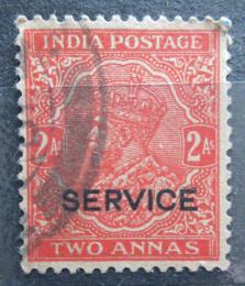 Poštovní známka Indie 1935 Král Jiøí V., služební Mi# 91