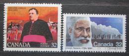 Poštovní známky Kanada 1983 Osobnosti Mi# 891-92