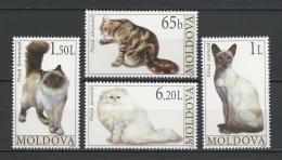 Poštovní známky Moldavsko 2007 Koèky Mi# 586-89
