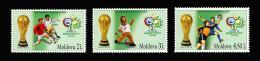 Poštovní známky Moldavsko 2006 MS ve fotbale Mi# 552-54 Kat 7€