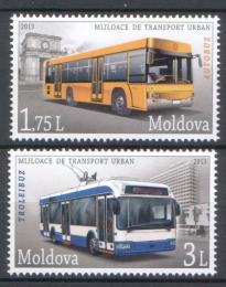Poštovní známky Moldavsko 2013 Autobusy Mi# 850-51