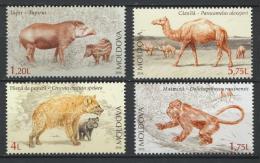 Poštovní známky Moldavsko 2016 Prehistorická fauna Mi# 980-83