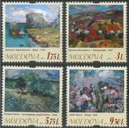Poštovní známky Moldavsko 2015 Umìní Mi# 919-22 Kat 11€