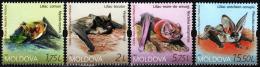 Poštovní známky Moldavsko 2017 Netopýøi Mi# 1011-14 Kat 13€