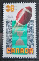 Poštovní známka Kanada 1987 Rugbyový míè Mi# 1068