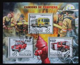 Poštovní známky Togo 2012 Hasièská auta Mi# 4385-87 Kat 11€