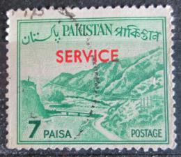 Poštovní známka Pákistán 1961 Prùsmyk Khyber pøetisk, úøední Mi# 87