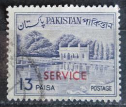 Poštovní známka Pákistán 1961 Zahrady Shalimar pøetisk, úøední Mi# 89