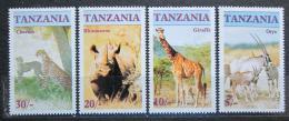 Poštovní známky Tanzánie 1986 Ohrožená fauna Mi# 328-31