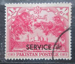 Poštovní známka Pákistán 1954 Mešita Badshahi pøetisk, úøední Mi# 48