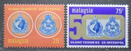 Poštovní známky Malajsie 1973 INTERPOL, 50. výroèí Mi# 107-08