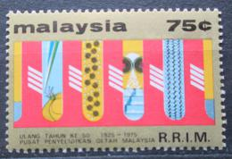 Poštovní známka Malajsie 1975 Institut výzkumu pryže Mi# 142