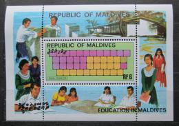 Poštovní známka Maledivy 1982 Vzdìlání Mi# Block 87