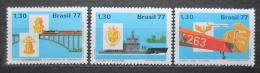 Poštovní známky Brazílie 1977 Ozbrojené síly Mi# 1633-35
