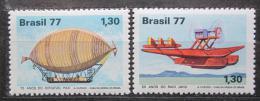 Poštovní známky Brazílie 1977 Civilní letectví Mi# 1622-23