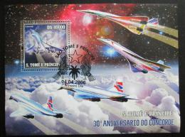 Poštovní známka Svatý Tomáš 2006 Concorde Mi# Block 533 Kat 12€