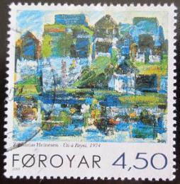 Poštovní známka Faerské ostrovy 2001 Umìní, Heinesen Mi# 405