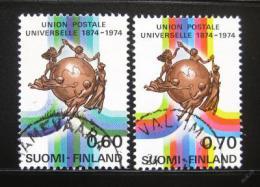 Poštovní známky Finsko 1974 UPU, 100. výroèí Mi# 756-57