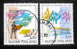 Poštovní známky Finsko 1983 Svìtový rok komunikace Mi# 924-25