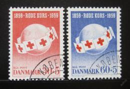 Poštovní známky Dánsko 1959 Èervený køíž Mi# 375-76