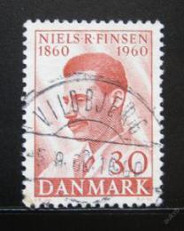 Poštovní známka Dánsko 1960 Dr. Niels R. Finsen, lékaø Mi# 384