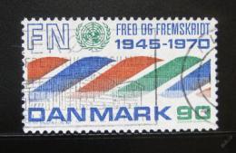 Poštovní známka Dánsko 1970 Výroèí OSN Mi# 505