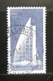 Poštovní známka Dánsko 1992 Pavilón na EXPO Mi# 1036