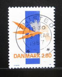 Poštovní známka Dánsko 1987 Abstraktní umìní Mi# 889