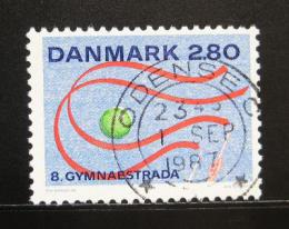 Poštovní známka Dánsko 1987 Gymnastriáda Mi# 897