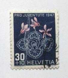 Poštovní známka Švýcarsko 1947 Cyclamen Mi# 491 Kat 10€