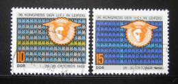 Poštovní známky DDR 1969 Kongres UFI Mi# 1515-16