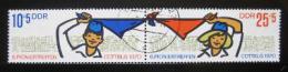Poštovní známky DDR 1970 Setkání pionýrù Mi# 1596-97