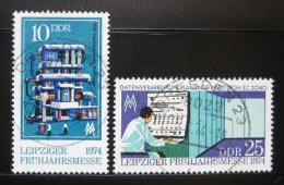 Poštovní známky DDR 1974 Lipský veletrh Mi# 1931-32