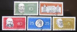 Poštovní známky DDR 1960 Výroèí, osobnosti Mi# 795-99