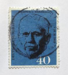 Poštovní známka Nìmecko 1960 George C. Marshall Mi# 344